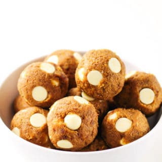 No Bake White Chocolate Pumpkin Bites