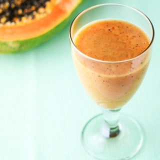 Papaya Coconut Banana Smoothie