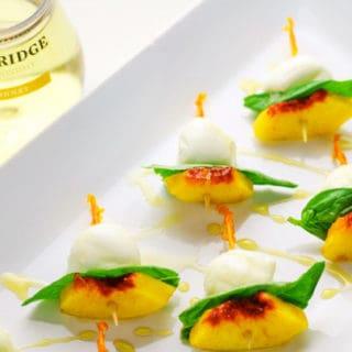 Peach Caprese Salad Bites