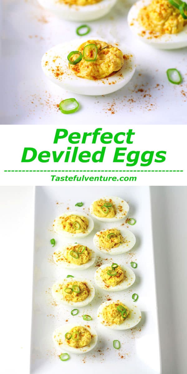 Perfect Deviled Eggs, a crowd favorite that is great for any Holiday or Party! | Tastefulventure.com