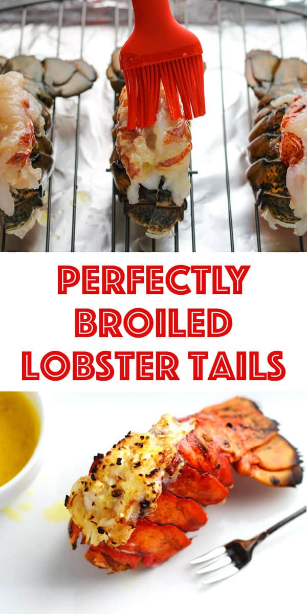Perfectly broiled lobster tails