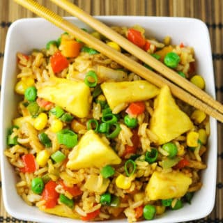20 Minute Pineapple Fried Rice