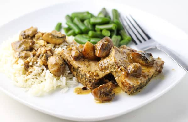 This Pork Tenderloin Marsala is so juicy and savory, you will want to lick the plate clean! | Tastefulventure.com