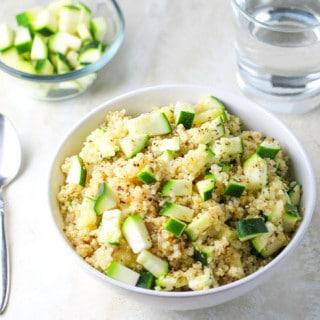 Quinoa Zucchini Salad with Lemon Vinaigrette