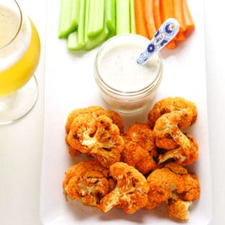 Skinny Buffalo Cauliflower Bites