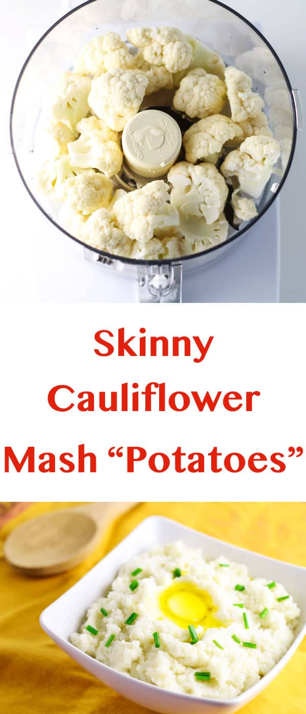 "Skinny Cauliflower Mashed ""Potatoes"", tastes just like mashed potatoes but without all the Carbs! 