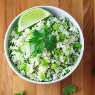 "Skinny Cilantro Cauliflower ""Rice"""