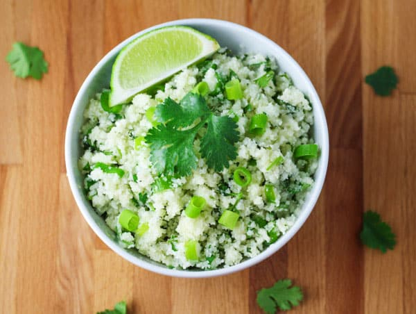 Skinny cilantro cauliflower rice tastefulventure this skinny cilantro cauliflower rice has around 17 calories per serving and is low forumfinder Gallery