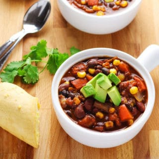 Slow Cooker Skinny Vegetarian Chili