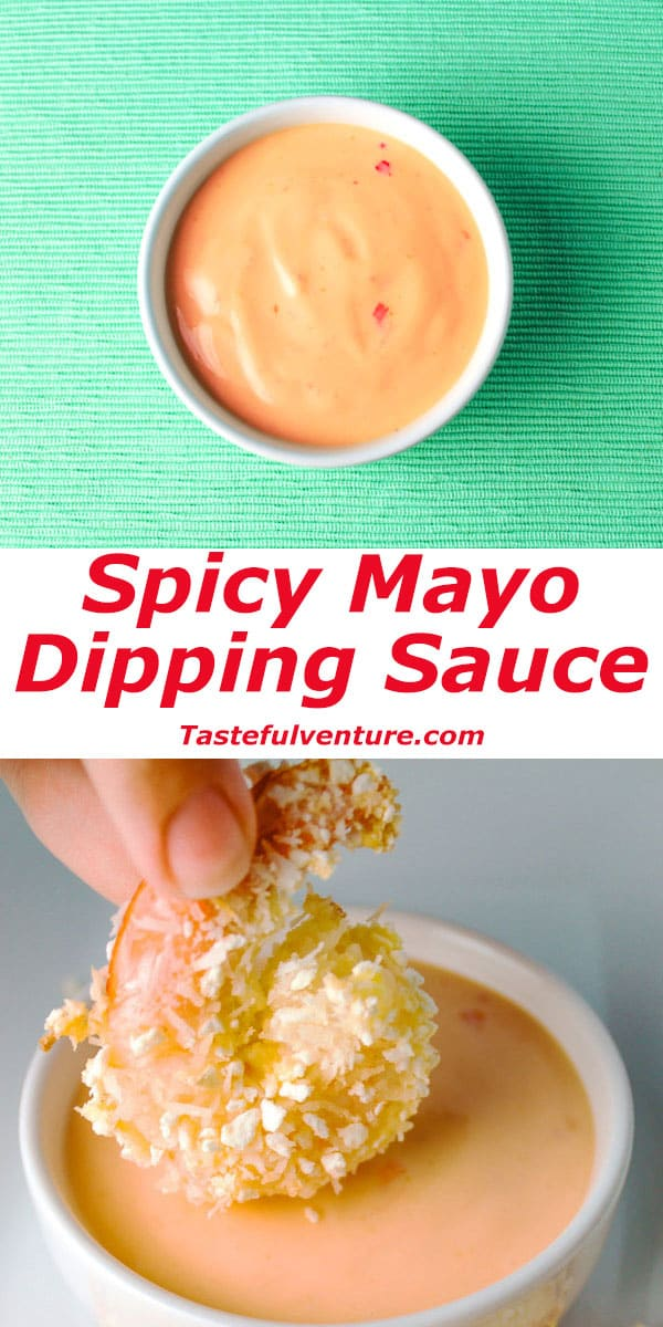 Spicy Mayo Dipping Sauce that is totally Vegan and Gluten Free! | Tastefulventure.com