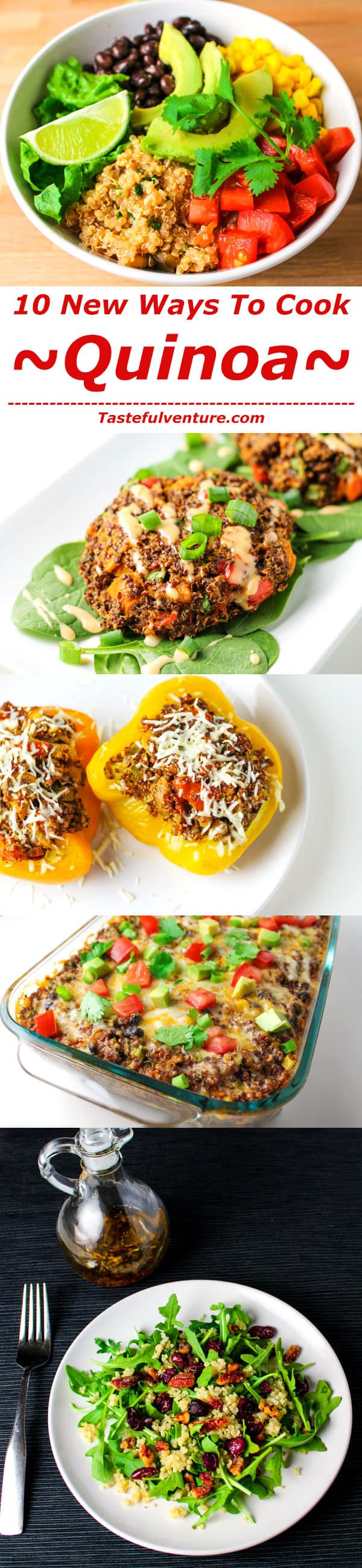 10 New Ways To Make Quinoa! These recipes are all healthy, gluten free, and delicious! | Tastefulventure.com