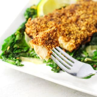 Walnut Crusted Mahi Mahi