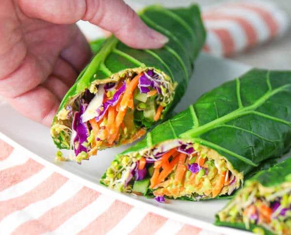 collard green veggie wraps
