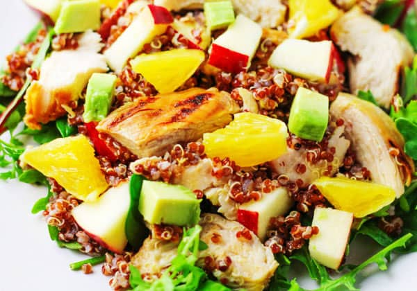 Top 10 Recipes To Make For Memorial Day - Citrus Chicken and Quinoa Salad, perfect as a side salad or a meal!