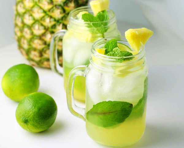 Top 10 Recipes For Memorial Day - Pineapple Mojitos, these are so light and refreshing!