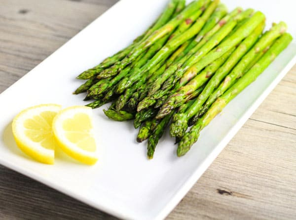 Top 10 Recipes To Make For Memorial Day - Roasted Asparagus, a simple healthy side dish that goes with every meal!