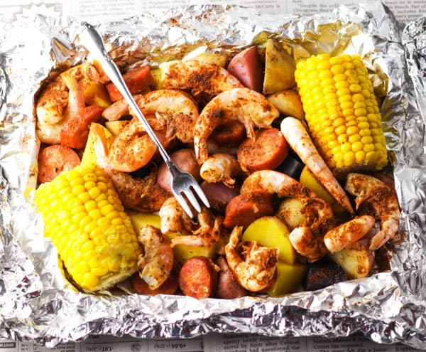 Top 10 Recipes To Make For Memorial Day - Shrimp Boil in Foil, add everything to a foil packet and bake or grill. This makes cleanup a breeze!