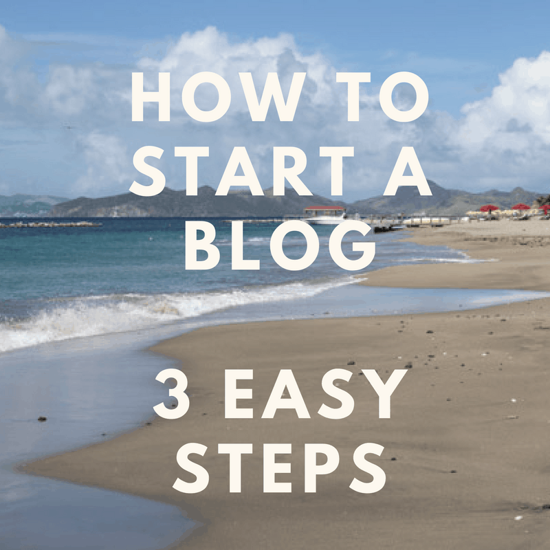 How To Start A Blog In Three Easy Steps! Follow this step by step guide to get a jumpstart on your blog!