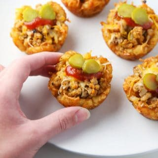 Turkey Cheeseburger Tator Tot Cups