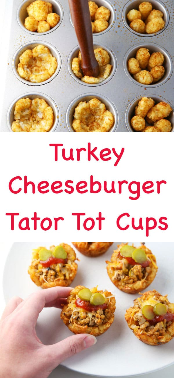 #ad These Turkey Cheeseburger Tator Tot Cups are a quick, easy, meal to make that the entire family will love! | Tastefulventure.com made in partnership with @Butterball #BackToButterball