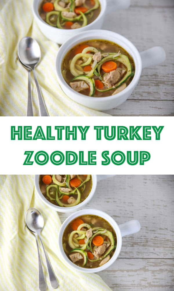 Healthy Turkey Zoodle Soup