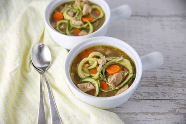 Turkey Zoodle Soup