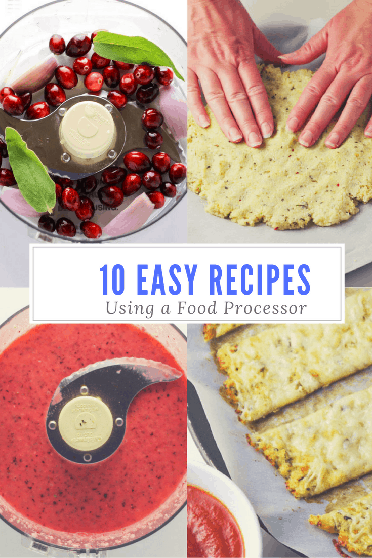 10 Easy Recipes To Make Using A Food Processor, these are so simple and so delicious! | Tastefulventure.com