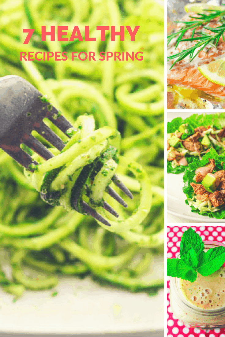 7 Healthy Recipes To Make In Spring! Low Carb, Low Calorie, Gluten Free, and so delicious!