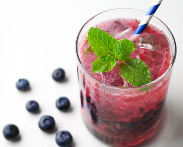 These Blueberry Mojitos are so simple to make! Perfect for your next party or get together, these are crowd favorite!