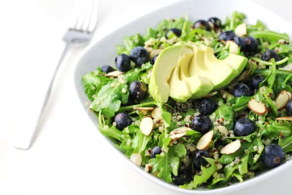 Blueberry Quinoa Arugula Salad