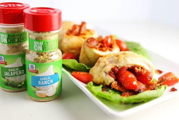#ad These Chicken BLT Rollups are super easy to make and loaded with flavor! | Tastefulventure.com made in partnership with @McCormickSpice #LeaveBlandBehind #CollectiveBias