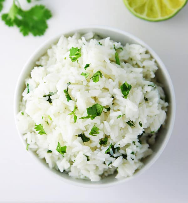 This Cilantro Lime Rice is a crowd favorite! It's the perfect side to any Mexican dish!