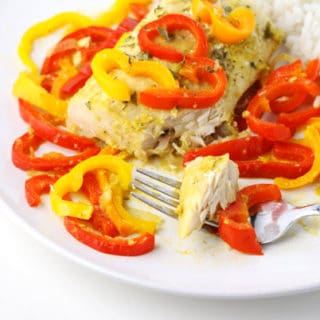Coconut Curry Mahi Mahi with Peppers