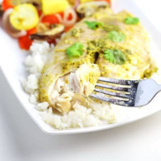 Coconut Curry Tilapia With Zucchini Medley