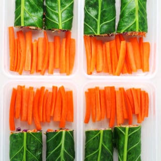 Collard Green Veggie Wraps Meal Prep
