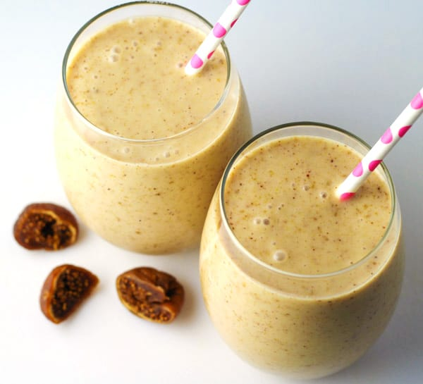 This Fig and Almond Butter Smoothie is made with 4 simple ingredients and is Dairy Free!