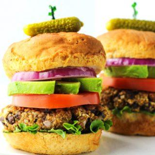 Gluten Free Black Bean Burgers
