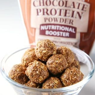Healthy Chocolate Protein Bites