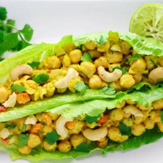 Healthy Curry Chickpea Lettuce Wraps