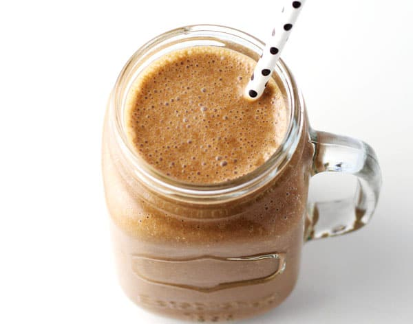 Healthy Tahini Chocolate Smoothie (Dairy Free) - This has a creamy, nutty taste that is so unique and delicious!