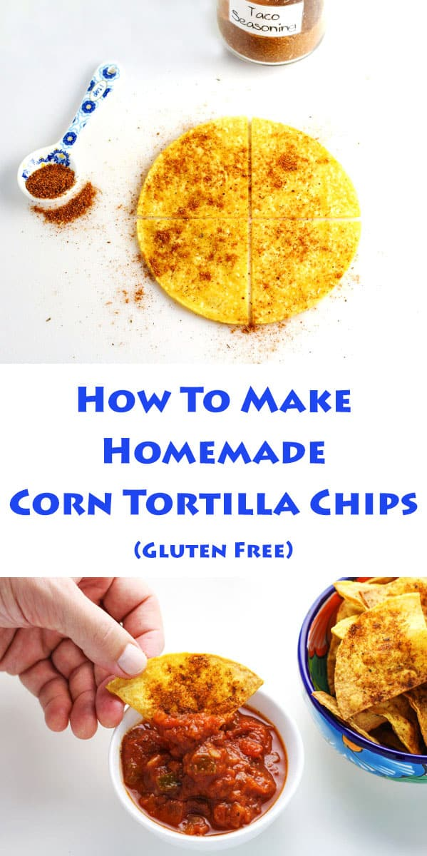 How To Make Homemade Corn Tortilla Chips ~ This is an easy way to make healthier chips! | Tastefulventure.com