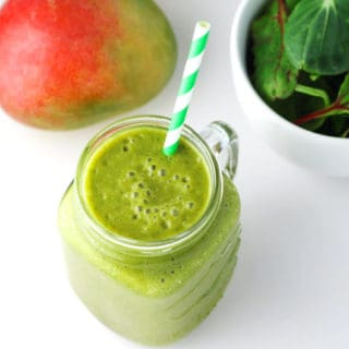 Mango Banana Green Smoothie (Dairy Free)
