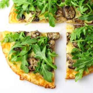 Mushroom and Arugula Pizza (Gluten Free)