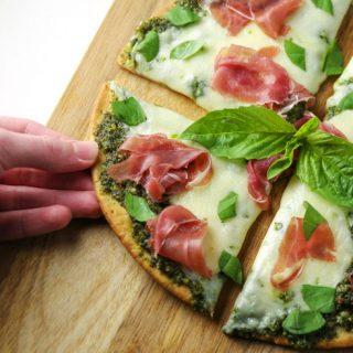 Prosciutto Basil Buffalo Mozzarella Pizza (Gluten Free)