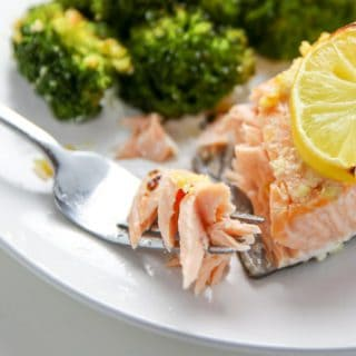 Sheet Pan Lemon Garlic Salmon With Broccoli