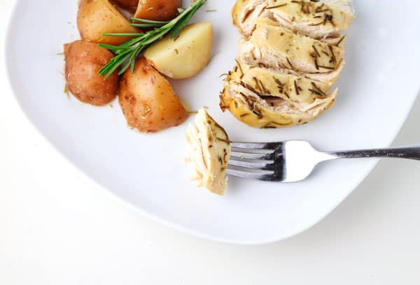This Slow Cooker Rosemary Lemon Chicken and Red Potatoes is so flavorful. Every bite is bursting with flavor and the Chicken is so tender and juicy!