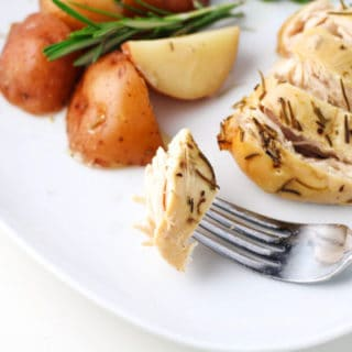 Slow Cooker Rosemary Lemon Chicken and Red Potatoes