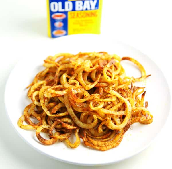These Spiralized Cajun Fries are so easy to make and are so addicting!
