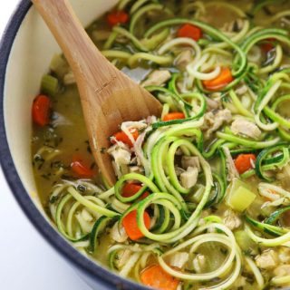 Healthy Turkey Zoodle Soup