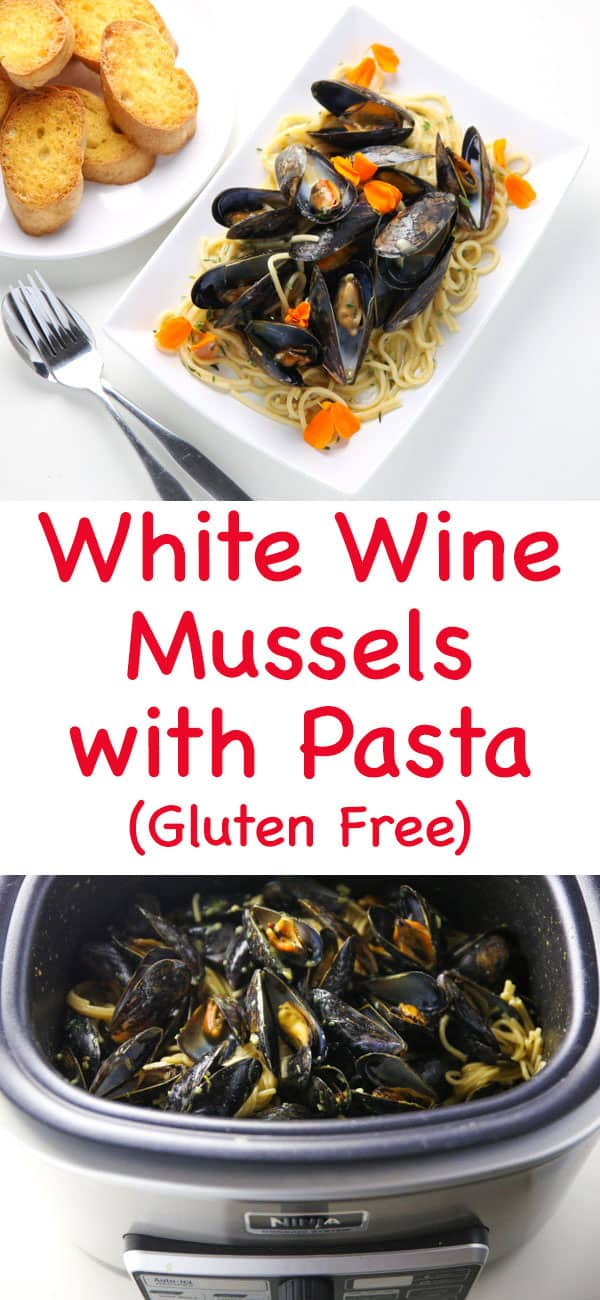 #ad - These White Wine Mussels With Pasta (Gluten Free) come together in less than 30 minutes and all in one pot! This has to be one of the easiest, delicious meals I've ever made! | Tastefulventure.com made in partnership with @NinjaKitchen #NinjaDeliciousDoneEasy #NinjaPartner